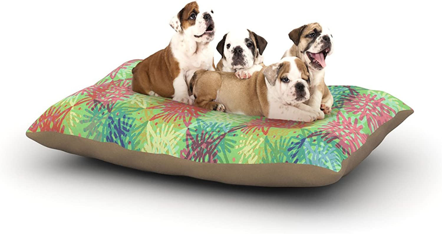 Kess InHouse Laura Nicholson Multi Lacy  Dog Bed, 30 by 40Inch