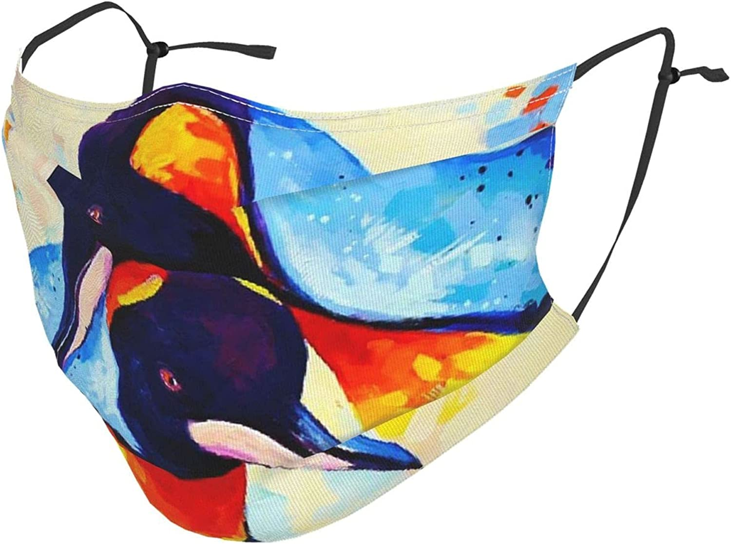 Translated Unisex 2 Penguins embracing Each Other Face R Painting Deluxe Oil Masks