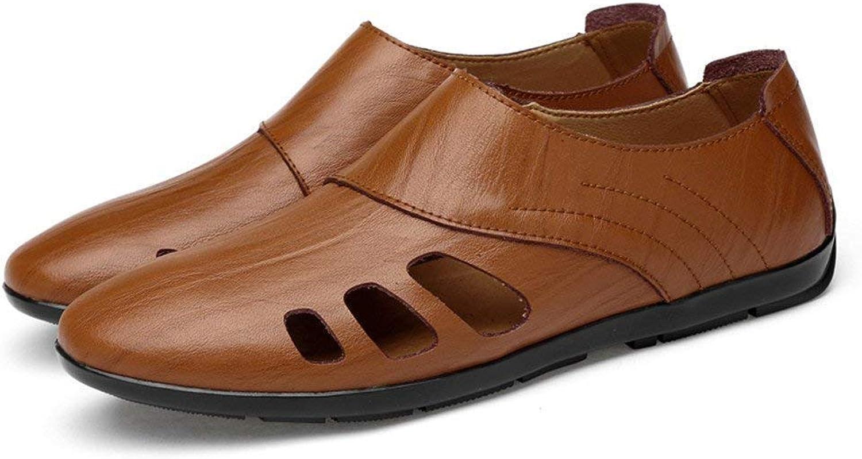 Herren Mokassins Schuhe, Männer Superior Gentlemen Gentlemen Gentlemen Loafers Casual Stiefelschuhe Kunstleder Slip-on Driving Mokassins (Hohl Optional) (Farbe   Hollow braun, Größe   47 EU)  fa67da