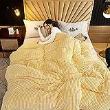 Baixtuo Mantas para Sofa Mantas para Mantas para Cama Mantas Ligeras De Limpiar - Extra Suave CáLido (Amarillo y Blanco, 180x200)