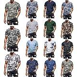 YSYOkow Camiseta de entrenamiento de manga corta para hombre, para gimnasio, musculación, entrenamiento, fitness, camisetas