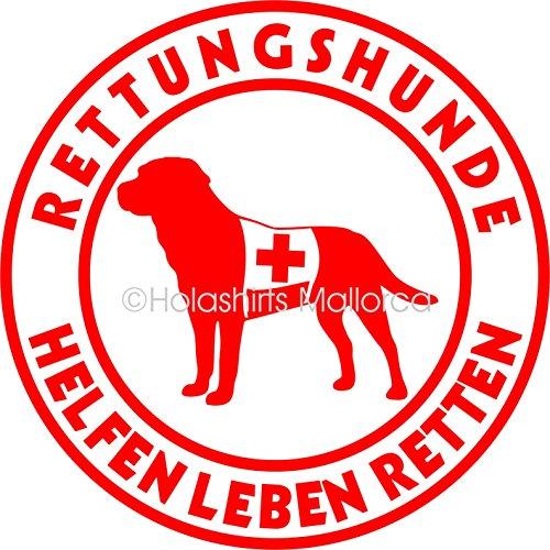 Holashirts Mallorca Labrador Labbi Rettungshund Auto-Aufkleber Hunde Sticker Suchhund Folie Ø150 mm