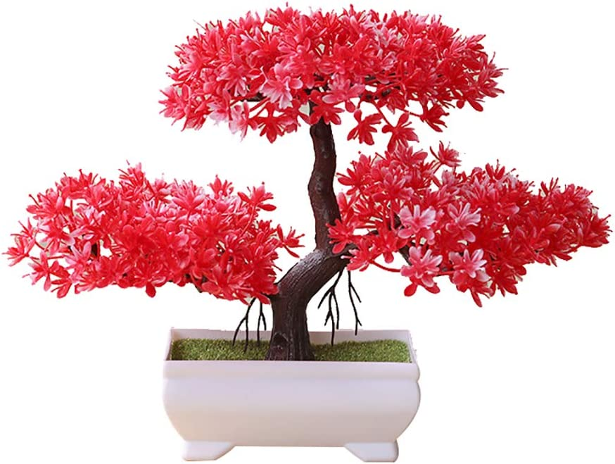 starlit 1 Pc Artificial Plant Potted overseas Fake Bonsai In a popularity Welcoming Tree