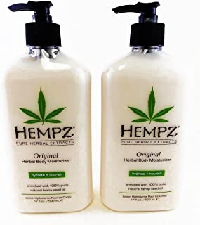 Hempz Original Herbal Body Moisturizer, 17 Fluid Ounce (Pack of 2)