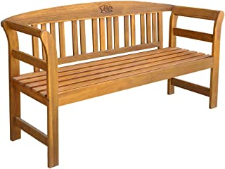 vidaXL Solid Teak Wood Garden Bench Outdoor Benches Wooden Furniture Bench Deck for Patio Decor and Outdoor Seating Patio Bench 120cm