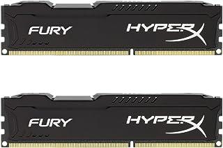 HyperX HX316C10FBK2 / 8 Fury, negro, RAM, DDR3, 8GB (kit 2x 4 GB), 1600MHz, CL10, UDIMM de 240 pines