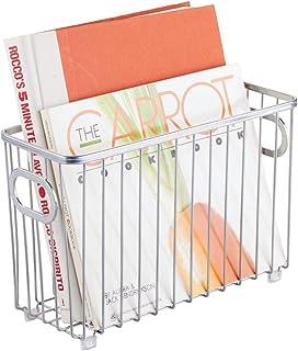 mDesign Cesto de alambre de metal pequeño – Versátil cesta de metal multiusos para cocina o despensa – Organizadores de co...