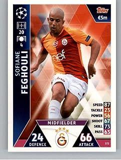 2018-19 Topps UEFA Champions League Match Attax #372 Sofiane Feghouli Galatasaray S.K. Official Futbol Soccer Card