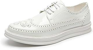 Youpin Oxford Shoes Fashion Brogue Hombres Cuero Vestido Formal Zapatos Hombre Cómodo Calzado de Fiesta de Oficina (Color ...