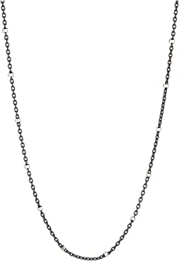 Chan Luu Sterling Silver Dainty Necklace with Crystal Beading