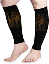 Calf Compression Sleeve for Men & Women, Premium Leg Compression Socks for Shin Splints and Varicose Veins, Ideal for Running, Cycling, Travel, Pregnancy & Recovery, Elephant