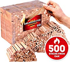 A kindling box of firewood weighing 17,5 lbs with more than 500 firestarter sticks is a nice option of natural fire starter. Kindling wood is great as grill (bbq), fire pit, fireplace, wood stove or camp fire starter. Fire starting sticks moisture co...