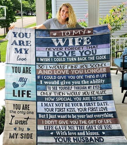 Fleece Blanket to My Wife