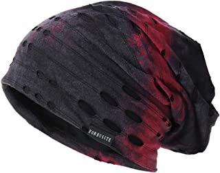 Ruphedy Mens Slouchy Beanie Skull Cap Summer Thin Baggy Oversized Knit Hat B301