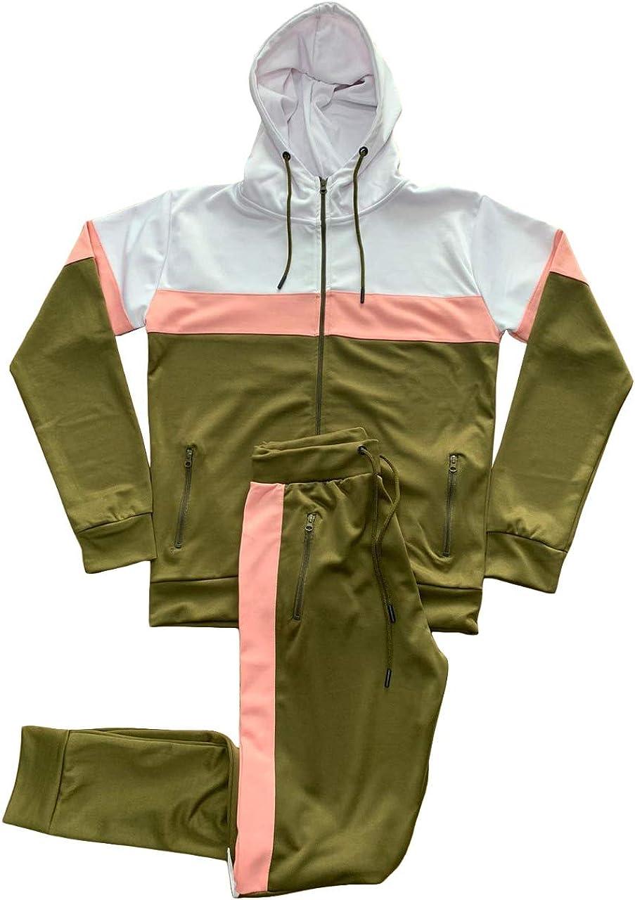mymixtrendz Fashions Mens Scuba Panel Polyester Tracksuit Set New Slim Fit Cord Hoodie Top Bottoms Jogging Zip Joggers Gym Sport Sweat Suit Pants S-XL