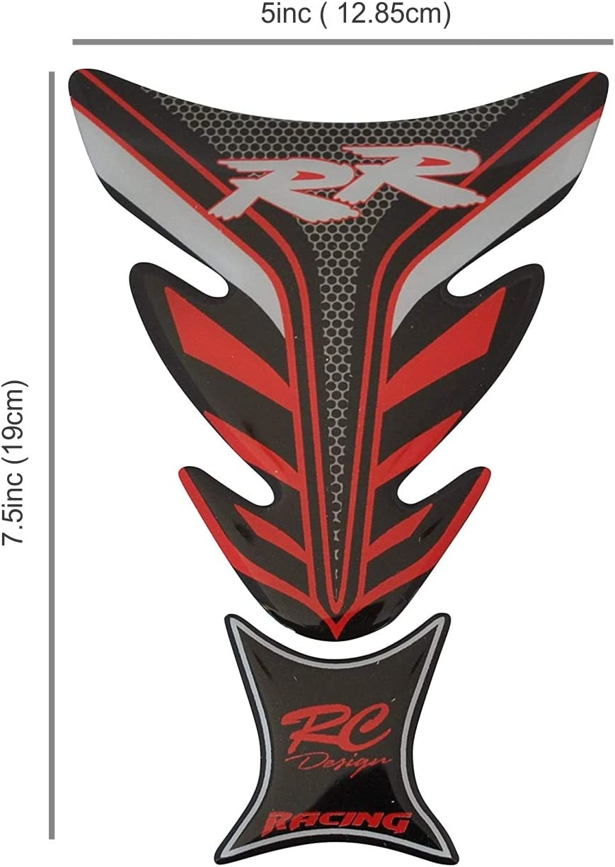 OTOLIMAN 3D Motorcycle Vinyl Gel Gas Tank Pad Protector Decal and Sticker Tankpad