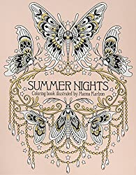 Sommarnatt Summer Nights coloring book by swedish illustrator Hanna Karlzon