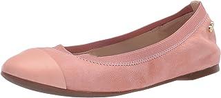 Cole Haan Women's Elbridge Ballet II Flat, Coral Almond Suede, 5 M US