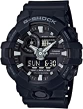 Casio G-shock Ana Digi All Black Men's Watch, 200 Meter Water Resistant with Day and Date GA-700-1B