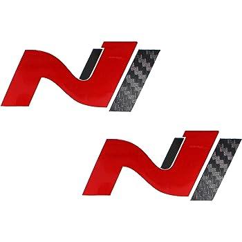 Schwarz Aufkleber 2er-Set Logo N Sticker 7cm Performance Aufkleber Rot//Weiss//Schwarz//Grau PrintAttack P046