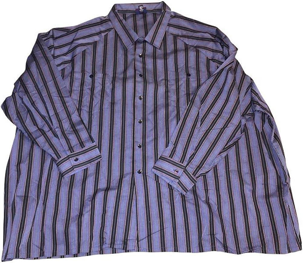 Boulevard Big and Tall Lightweight Square Bottom 2 Pocket Long Sleeve Shirts 5X 6X