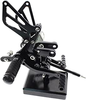 Motorcycle Rearset Foot Pegs Rear Set Footrests Fully Adjustable Foot Boards Fit For Suzuki GSXR750 GSXR600 1996-2005,GSXR1000 2000-2004,SV650 SV650S SV1000 SV1000S 1998-2014