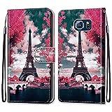 nancencen Coque Compatible avec Samsung Galaxy S6 / SM-G920 (5,1'), Flip Housse Fente pour Carte...