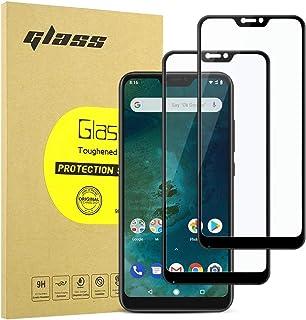 [2-Pack] Protector de Pantalla para Xiaomi Mi A2 Lite, [9H Dureza] [Anti-Rayaduras] [3D Touch Compatible] Vidrio Cobertura Completa de Cristal Templado para Xiaomi Mi A2 Lite / Xiaomi Redmi 6 Pro - Negro