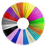 3D Penna Filamento Ricarica PLA 20 Colori,1.75mm PLA Fliament Set per la Stampa 3D Hobby Creativi 3D Stampante, 5M Ogni Colore