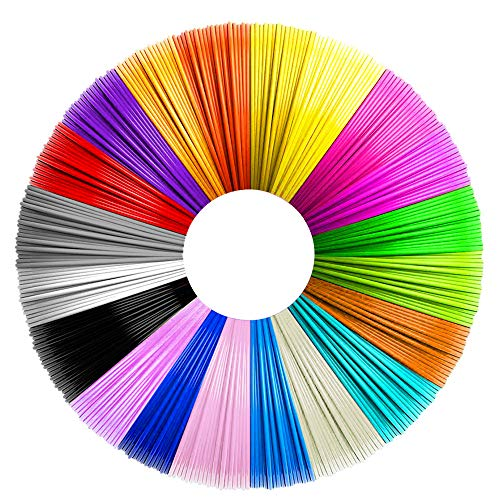 3D Stift Filament PLA, 20 Farben, je 5M – 3D Pen PLA Filament 1,75mm, 3D Stift Farben Set für ODRVM, Tecboss, Lovebay, 3D Stift and 3D Druck Stift