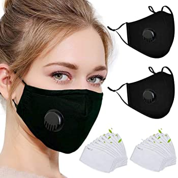 ChildrenS Face Bandanas Breathing With Activated Carbon Filters Anti-Smog Washable Reusable
