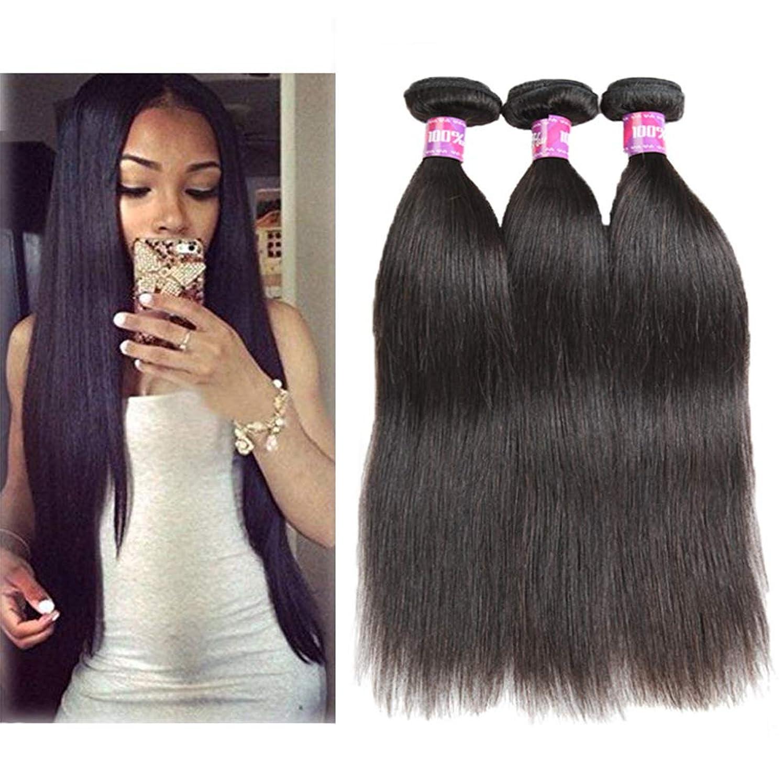 動揺させる略す透過性女性の髪織りブラジルの髪1バンドルストレートヘア100%未処理のブラジルのバージンストレート人間の髪