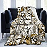 My Hero Academia Anime All Might Skinny Version Throw Blanket, Fuzzy Warm Throws For Winter Bedding,3d Printing Soft Micro Fleece Blanket Home Decor Warm Anti-Pilling Flannel Throw Blanket 50inx40in