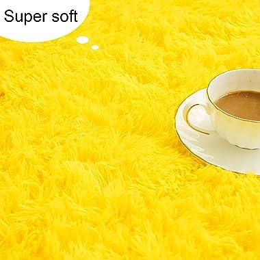 Chicrug Soft Fluffy Area Rugs Plush Rug for Living Room Bedroom 5x8 Feet, Shag Furry Area Rug Carpet Non Shedding for Nursery