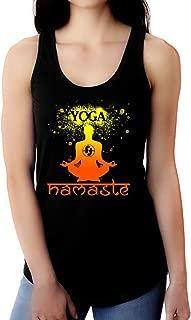 Yoga Tanks for Women - Namaste Soft Blend Slim Fit Racerback Yoga Tank Top for Women