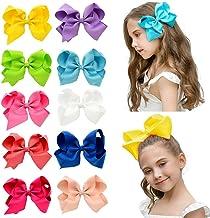 JSBelle Baby Girls Hair Bows, 10pcs 6 pulgadas arcos de pelo