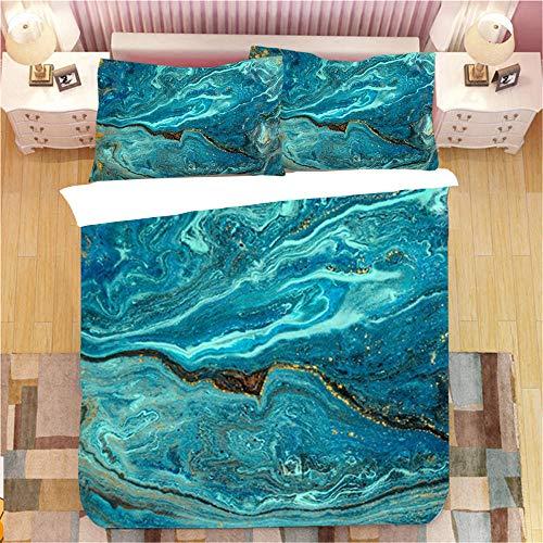 Gzsyb Bed Linen Duvet Set Cover And Pillow Case Microfibre With 1 Quilt Case 2 Pillowcases Case tassel 3D Digital Print Three - Piece Bed Linen Double 200x200 cm