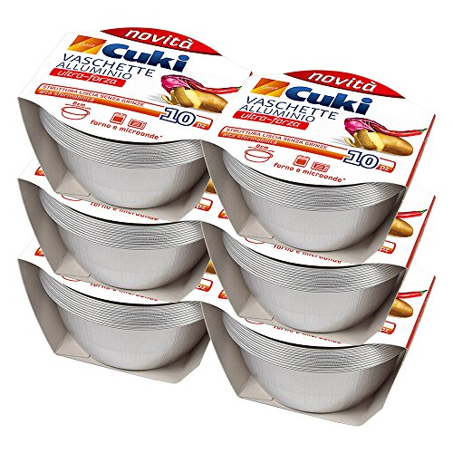 Cuki Vaschette Alluminio - Ultra Forza - crème caramel - tonde [TS21G] - 60 vaschette (Multipack)