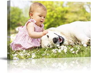 SIGNFORD Personalized Canvas Wall Art, Cute Baby and Dogs Customize Your Photo to Canvas Digitally Printed Poster - 8