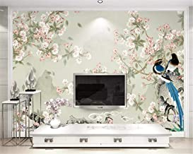 Wallpaper 3D Ized Thick Papel De Parede Sea Bream New Chinese Style Hand-Painted Flowers Birds Decoration Painting,300X210cm