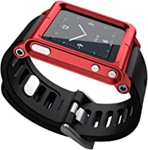 OCR Cool Alumium Watch Band Wrist Strip for iPod Nano 6G Cover Case, Red