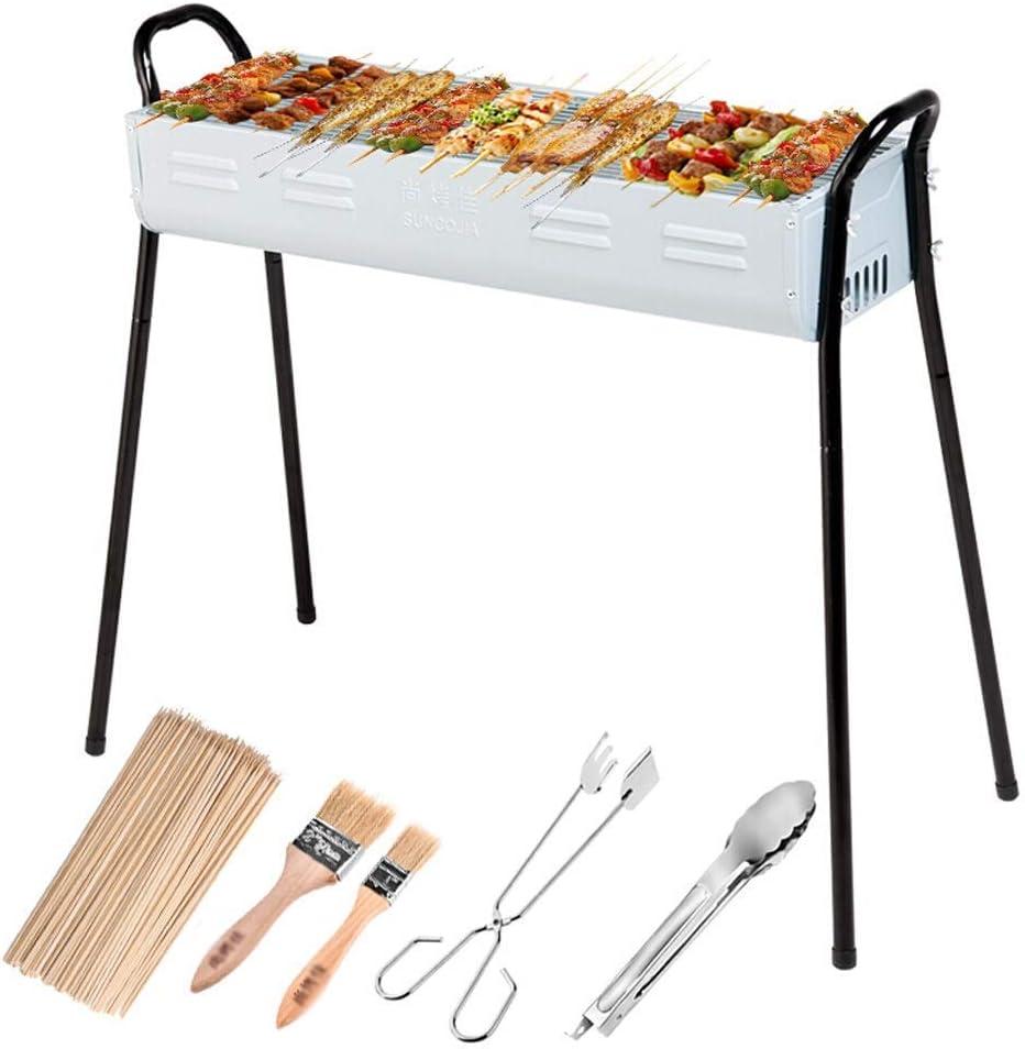 Barbecue Grill Barbecue Grill,Barbecue Portable Pliant d'extérieur,Barbecue au Charbon de Bois pour Barbecue (pour 5 à 7 Personnes) @ (Couleur: A) A