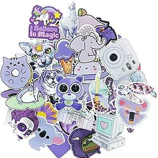 SUNYU Purple Doodle Cute Cool Waterproof Gift Set Sticker DIY Luggage Bicycle Helmet Notebook Skateboard Toy Stickers 61Pcs