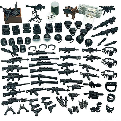 Taken All Weapons Pack Police Special Modern Combat Weapons Assault Pack, Custom Military Building Blocks Toy (Weapons 2)