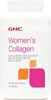 GNC Womens Collagen, 180 Caplets, Support Skin Elasticity and Healthy Skin