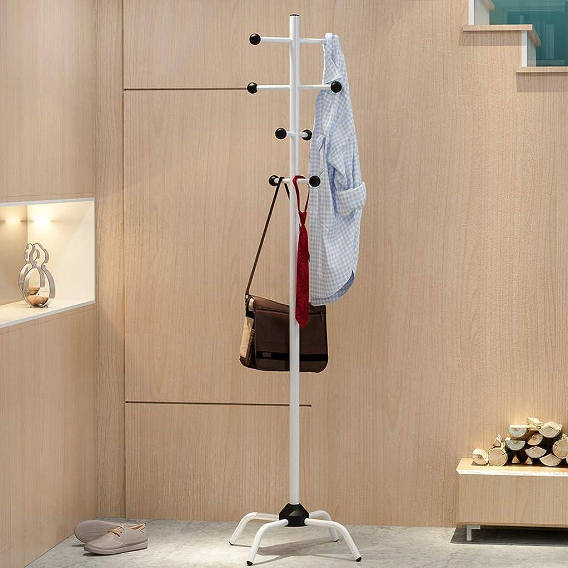 犯す温帯レッドデートTLMY 現代のミニマリストのフロアコートラック多機能家庭用寝室のリビングルームハンガー187.4×41センチ コートラック (Color : White)