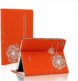 SAVEICON (TM Orange Dandelion Folio PU Leather Stand Case Cover Skin for iPad 2 iPad 3 iPad 4 WiFi 3G 4G LTE with Stand and Sleep/Wake Function