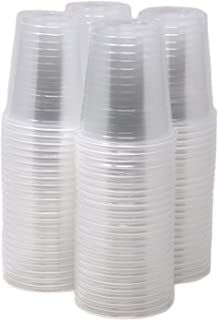 Bulk Pack Of 200 ! 3 Oz Disposable Plastic Cups Clear, Mini Cups For Party, Jello, Bathroom, BPA Free