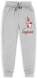 Yuanmeiju England Soccer Shirt Football Boys Pantalones Deportivos,Pantalones Deportivos for Teens Boys Girls