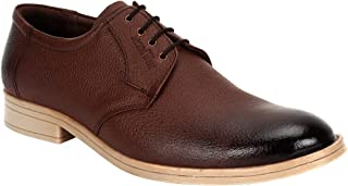 SeeandWear Men`s Casual Leather Brown Shoes